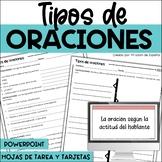 Tipos de oraciones / Types of Sentences Spanish