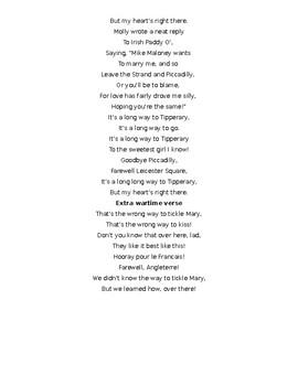 Tipperary Lyrics