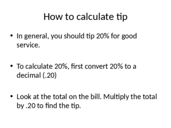 Tipping Powerpoint
