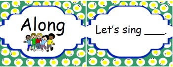 Tippy Toe Chick Go! High Frequency Words Matching Cards