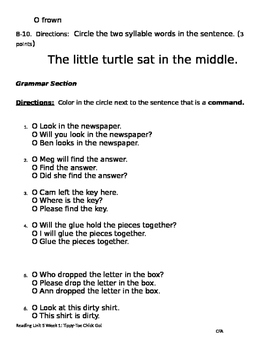 Tippy Toe Chick Go Phonics & Grammar:ow/ou, C+le syllables, commands