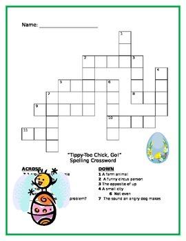 Tippy-Toe Chick, Go! Spelling crossword