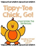 Tippy-Toe Chick Go! Unscramble the Sentences