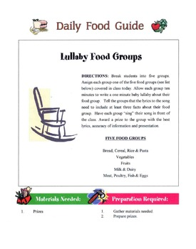 Tips For Good Daily Food Guide Choices Lesson