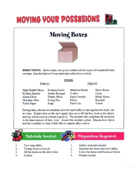 Tips For Moving Your Possessions Lesson
