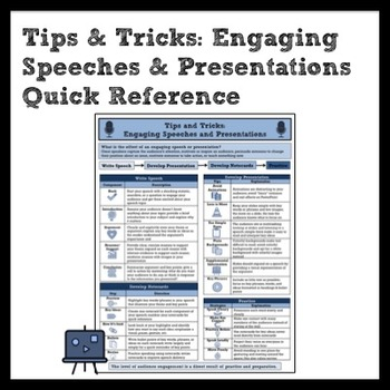 Tips & Tricks: Creating Engaging Speeches and Presentations Quick Reference