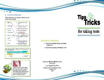 Tips & Tricks for Test Taking Brochure