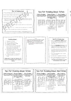 Tips and Benefits of Reading Aloud: Handouts for Parents and Volunteers