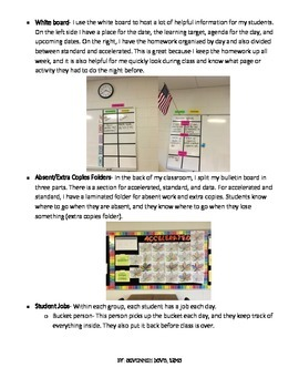 Tips and Tricks for an Organized Classroom- Middle School