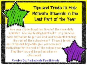 Tips and Tricks for the Last Part of the School Year- FREEBIE For March