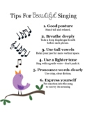 Tips for Beautiful Singing Poster