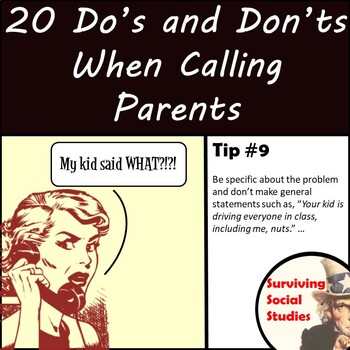 Tips for Calling Parents - 20 Dos and Don'ts