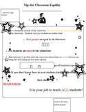 Tips for Classroom Equality