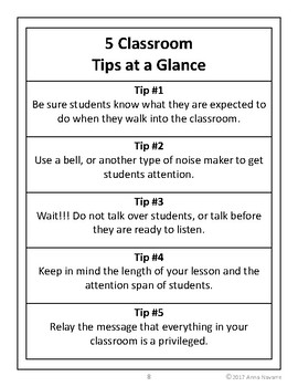 Tips for Classroom Management