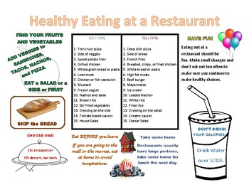 Tips for Eating Healthy at a Restaurant