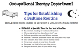 Tips for Establishing a Bedtime Routine Handout