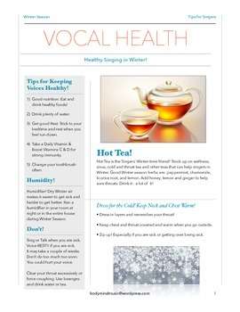 Tips for Healthy Singing in Winter
