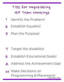Tips for Negotiating IEP Team Meetings