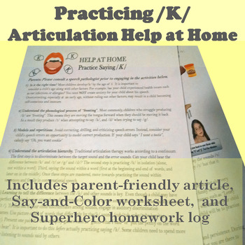 Tips for Parents Facilitate /K/ at Home