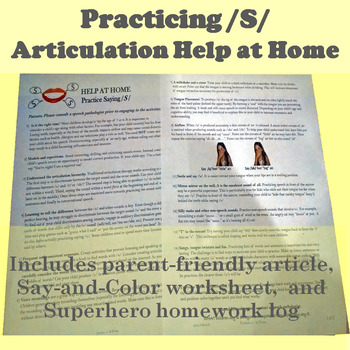 Tips for Parents: Facilitate /S/ at Home