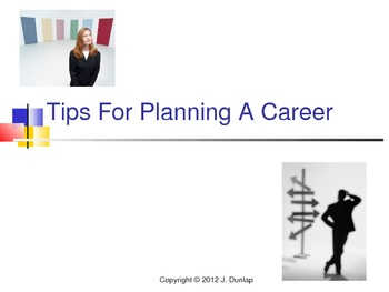 Tips for Planning A Career