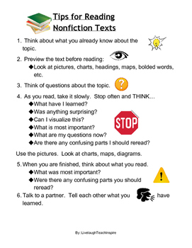 Tips for Reading NonFiction Texts