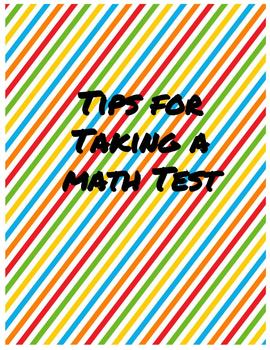 Tips for Taking a Math Test