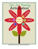 Tips for Teaching Articulation FREEBIE