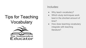 Tips for Teaching Vocabulary