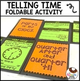 Telling Time Review Foldable Includes AM PM