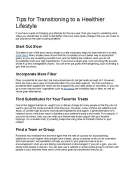 Tips for Transitioning to a Healthier Lifestyle