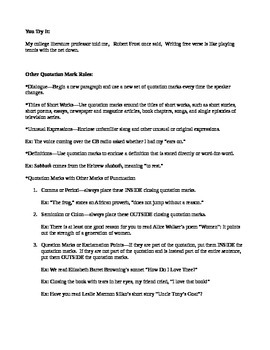 Tips for Using Quotation Marks