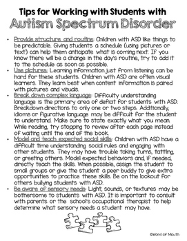 Tips for Working with Students with Autism