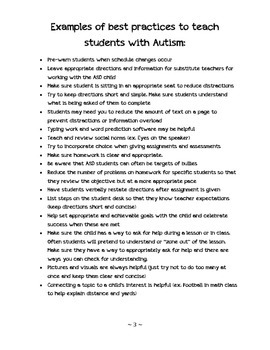 Tips for Working with Students with Autism Spectrum Disorder
