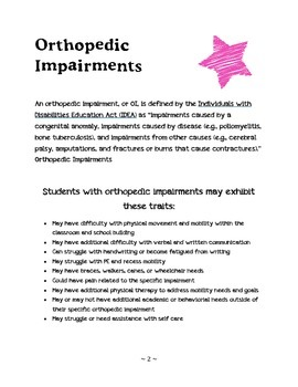Tips for Working with Students with Orthopedic Impairments