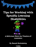 Tips for Working with Students with Specific Learning Disabilities