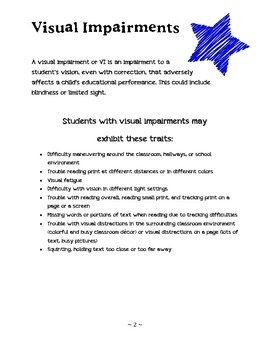 Tips for Working with Students with Visual Impairments