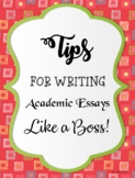Tips for Writing Academic Essays Like a Boss!!