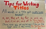 Tips for Writing Titles