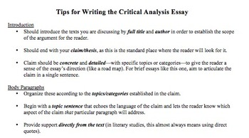 How to Write a Literary Analysis: The Basics