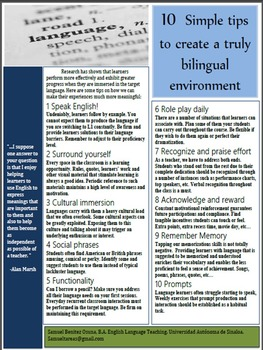 Tips for bilingual environment