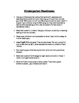 Tips for parents at Kindergarten Roundup