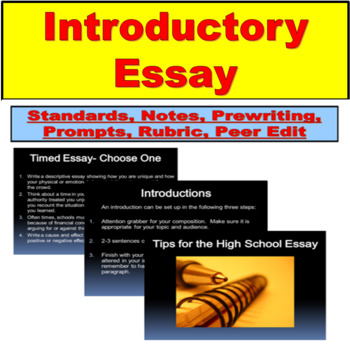 Introductory Essay Lesson for High School