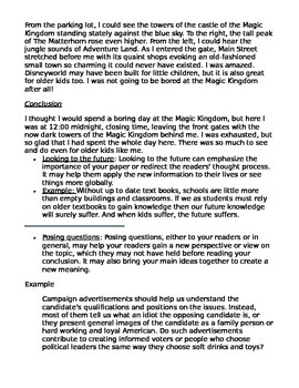 Tips for writing an informational conclusion paragraph