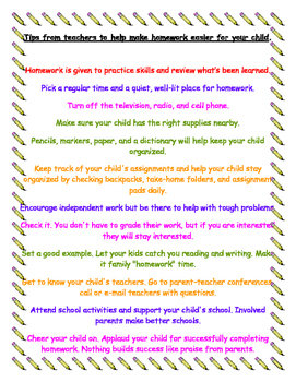Tips from Teachers to Help Make Homework Easier For Your Child