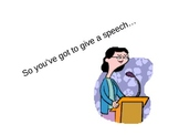 Tips on Giving a Speech