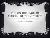 Tips on Taking the English Section of the ACT