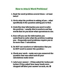 Tips or Srategies for Solving Mathematical Word Problems or Problem Solving