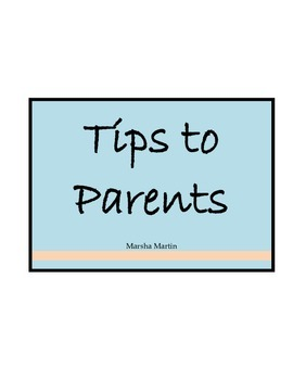Tips to Parents