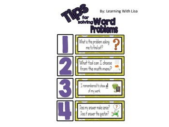 Tips to Solving Word Problems